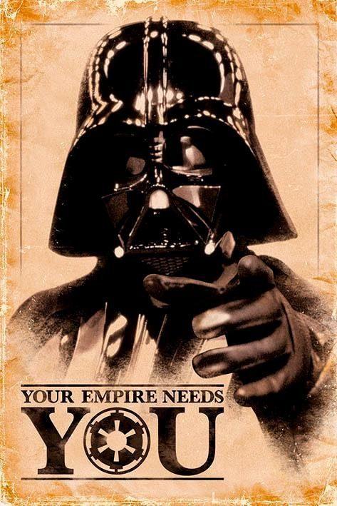 Deco-Panel »Star Wars Darth Vader«, Filmplakat, 60/90 cm