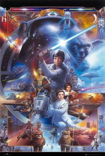 Deco-Panel »Star Wars«, Filmplakat, 60/90 cm
