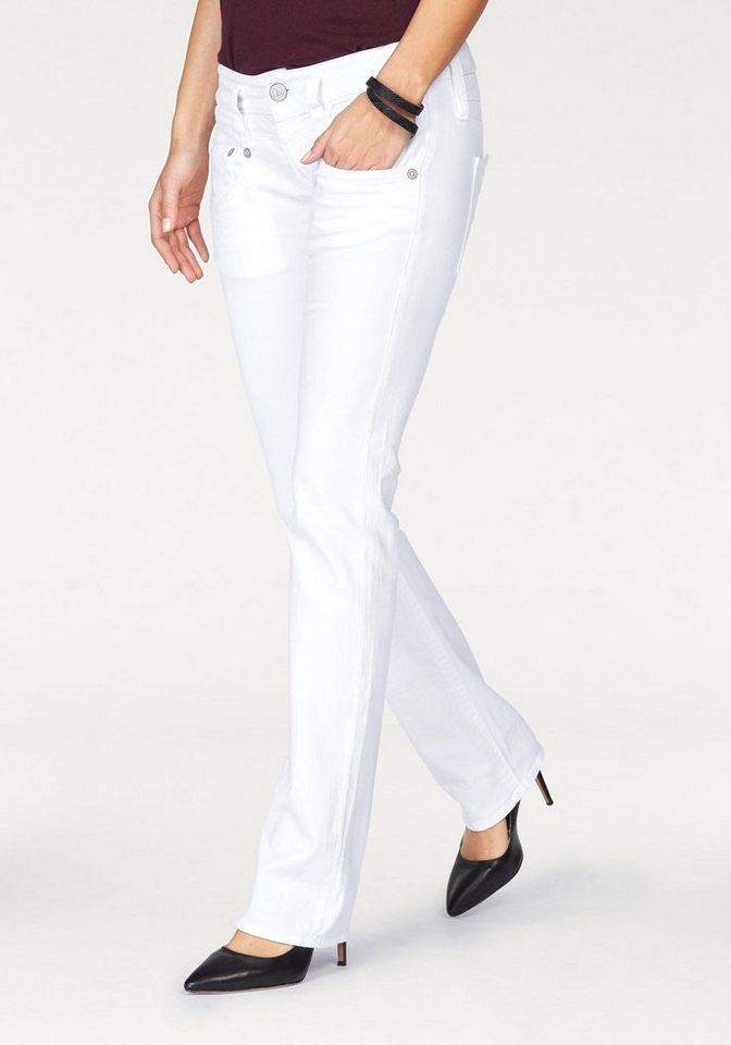 Herrlicher Gerade Jeans »PITCH STRAIGHT« mit Dekoknöpfen   Bekleidung > Jeans > Gerade Jeans   Weiß   Jeans   Herrlicher