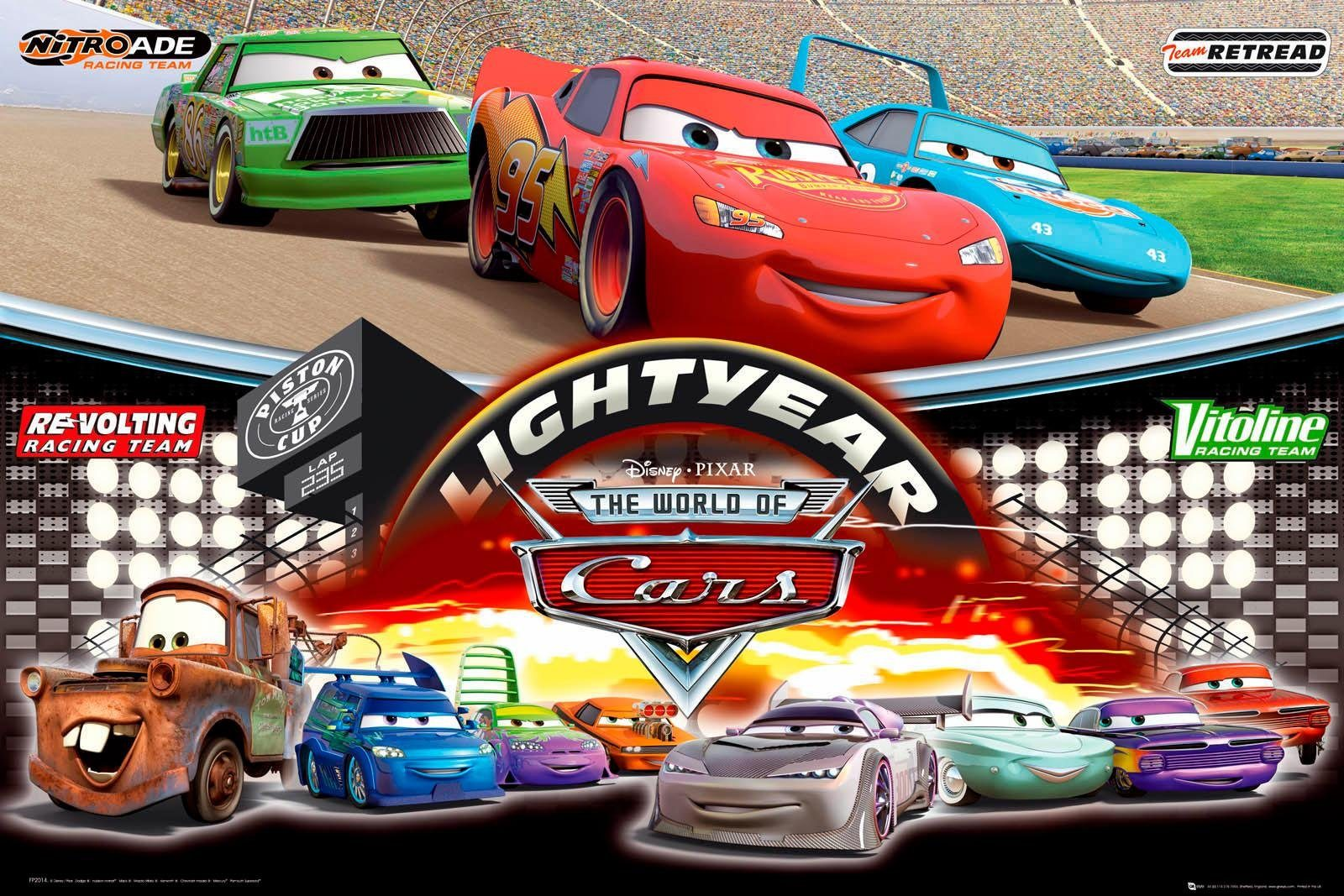 Deco-Panel »Disney`s Cars«, Filmplakat, 90/60 cm