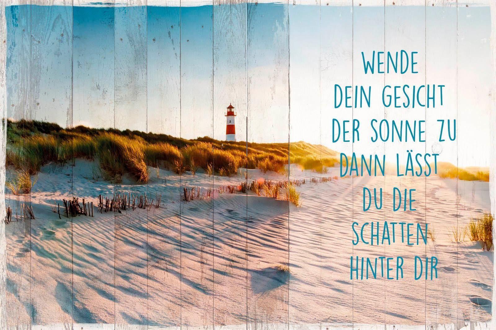 Deco-Panel »Sonne am Strand«, Schriftzug, Strand, 90/60 cm