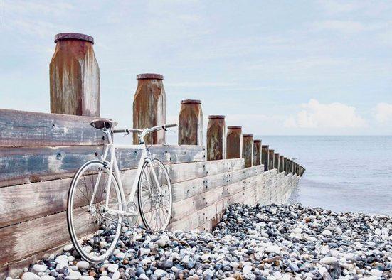Reinders! Deco-Panel »Fahrrad am Strand«, 140/100 cm