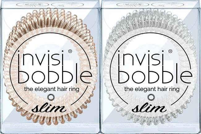 invisibobble Spiral-Haargummi »SLIM«, Set, 6-tlg., Bronze me Pretty & Crystal Clear