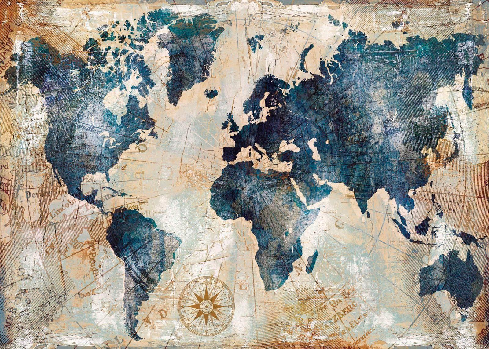Leinwandbild »Weltkarte« 140/100 cm