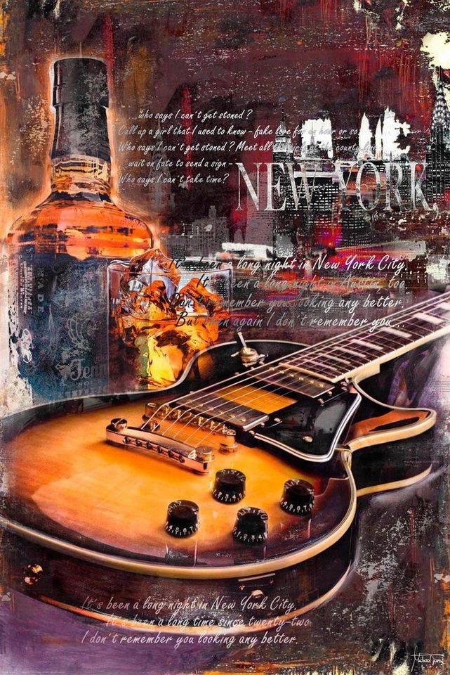 deco panel gitarre whiskey gitarre schriftz ge 60. Black Bedroom Furniture Sets. Home Design Ideas