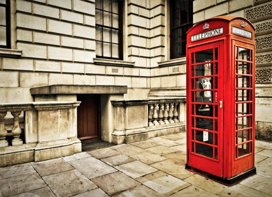 Fototapete »London -Telefonzelle« 254/184 cm