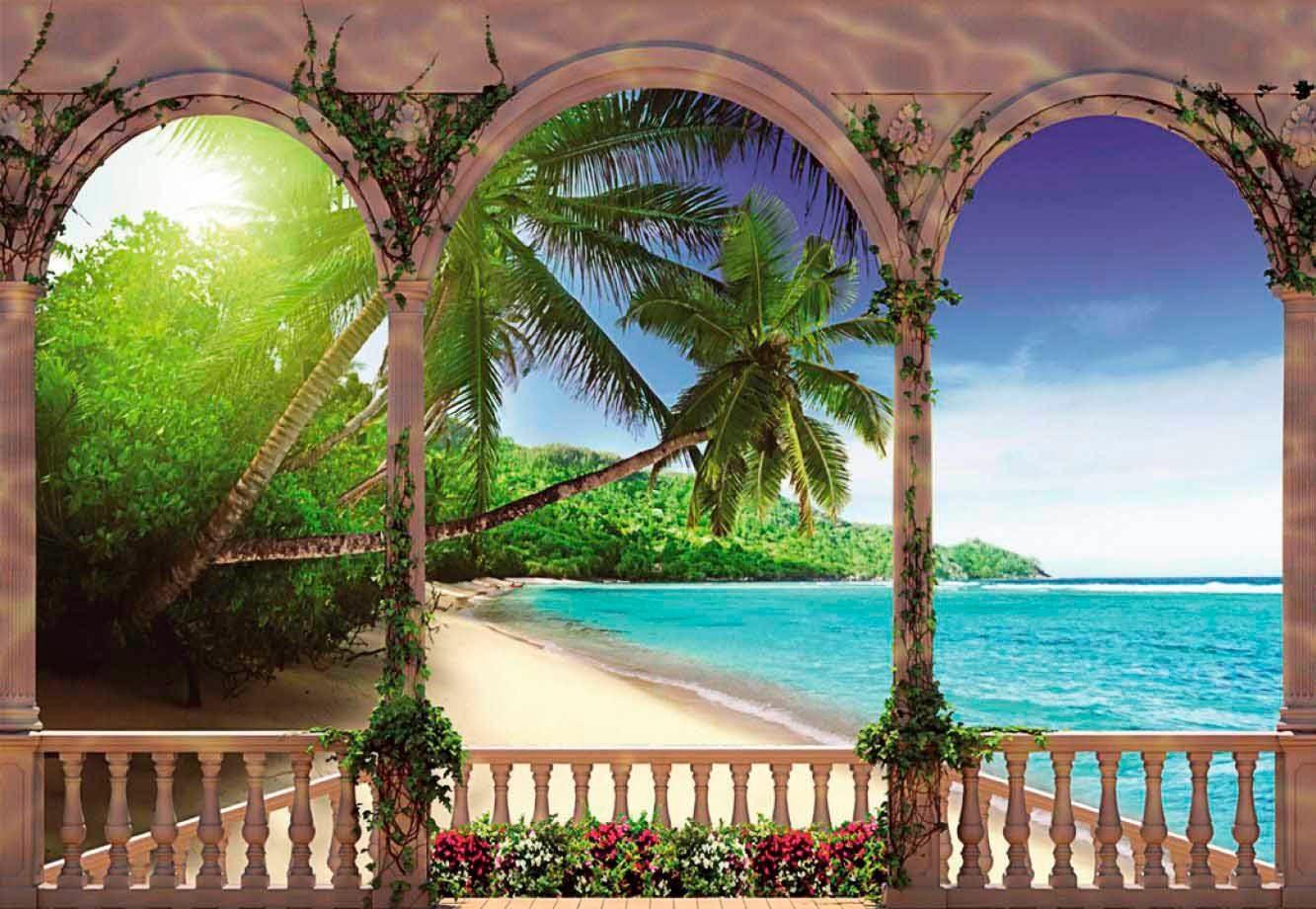 Fototapete »Palmen im Paradies«, 368/254 cm