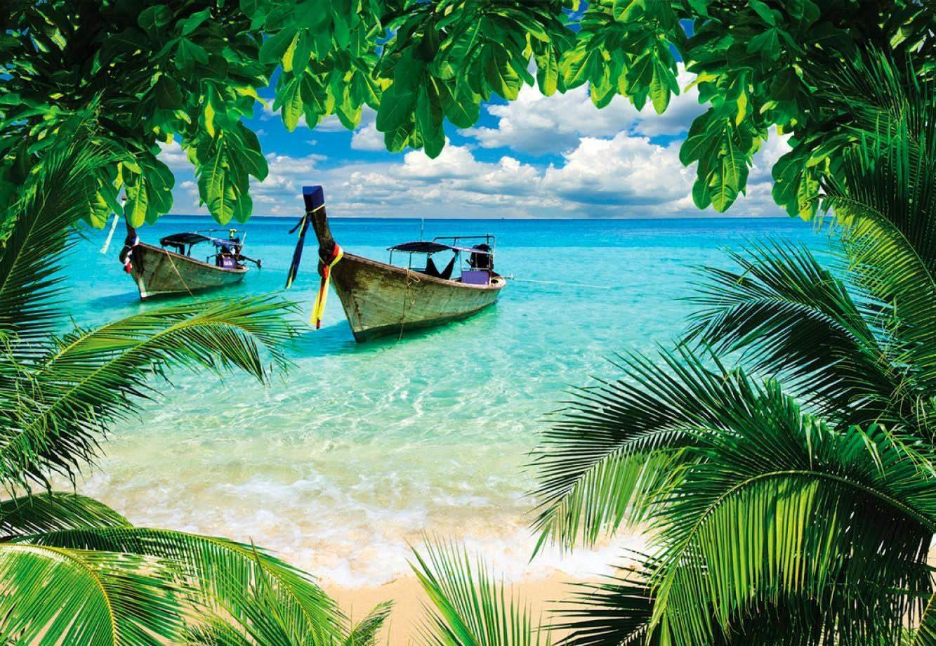 Fototapete »Paradies Insel«, 368/254 cm