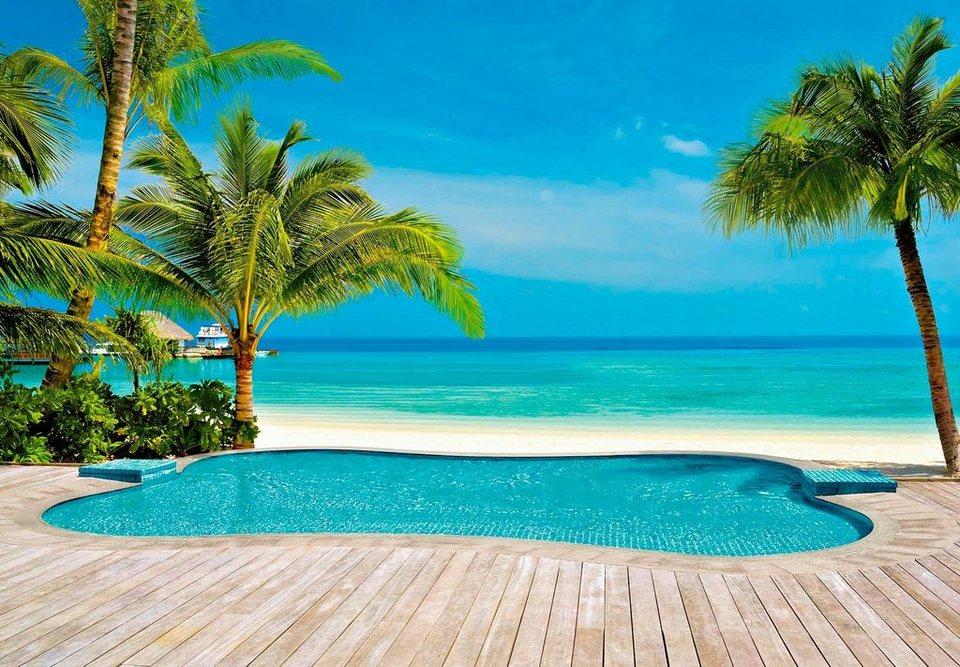 fototapete palmen pool 366 254 cm online kaufen otto. Black Bedroom Furniture Sets. Home Design Ideas