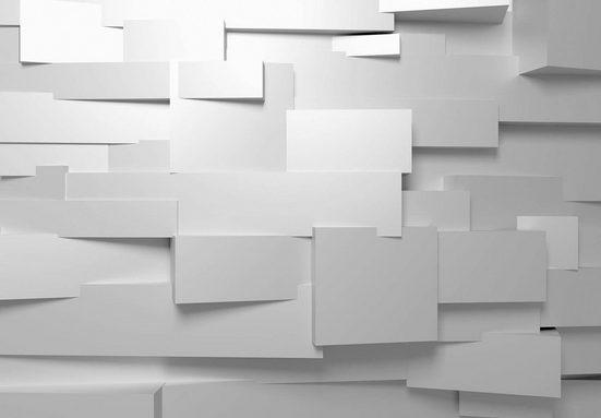 Fototapete »3D Mauer«