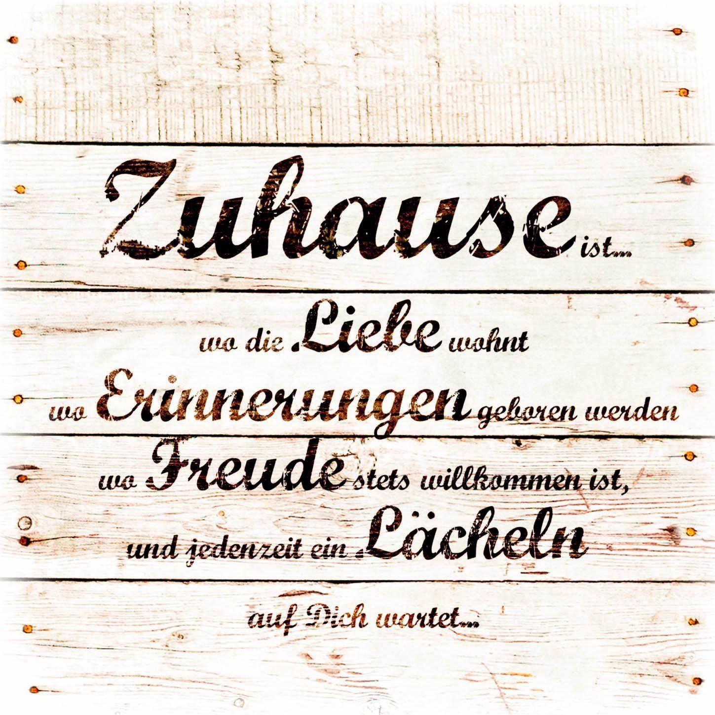 Holzbild »Zuhause« 40/40 cm