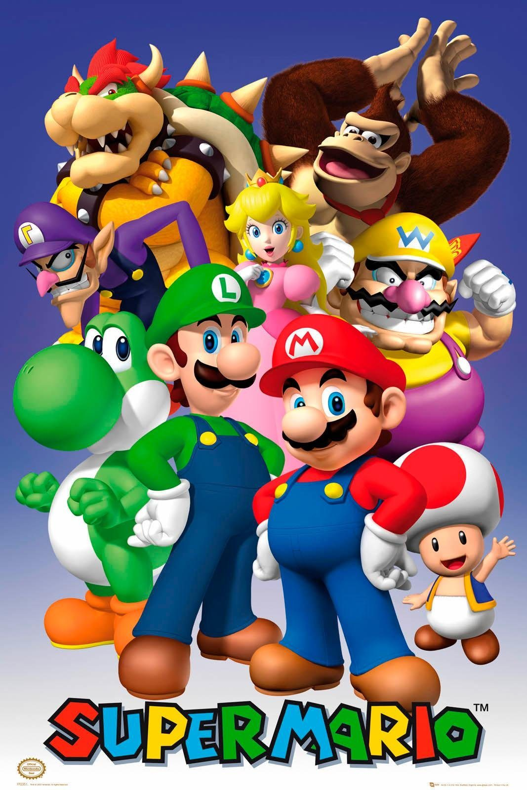 Deco-Panel »Nintendo«, Game-Plakat, 60/90 cm