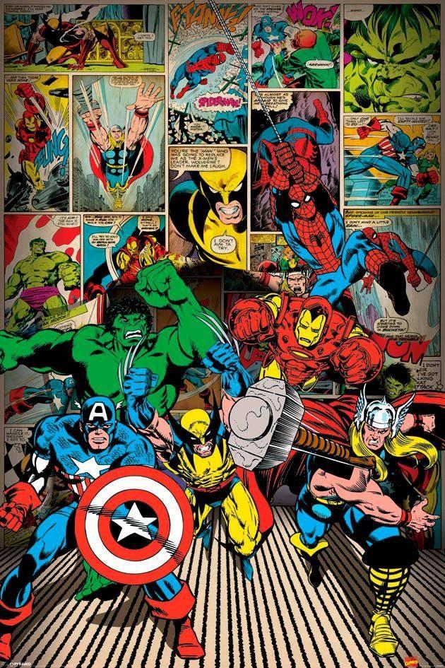Deco-Panel »Marvel«, Filmplakat, 60/90 cm