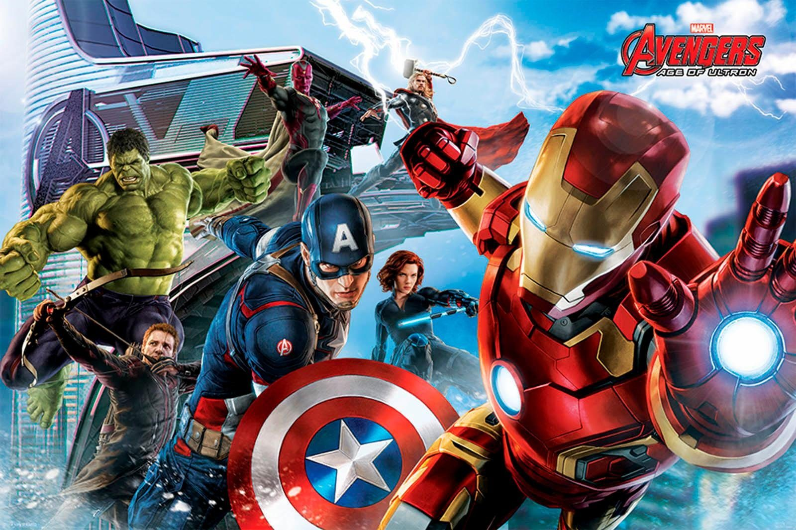 Deco-Panel »Avengers«, Filmplakat, 90/60 cm