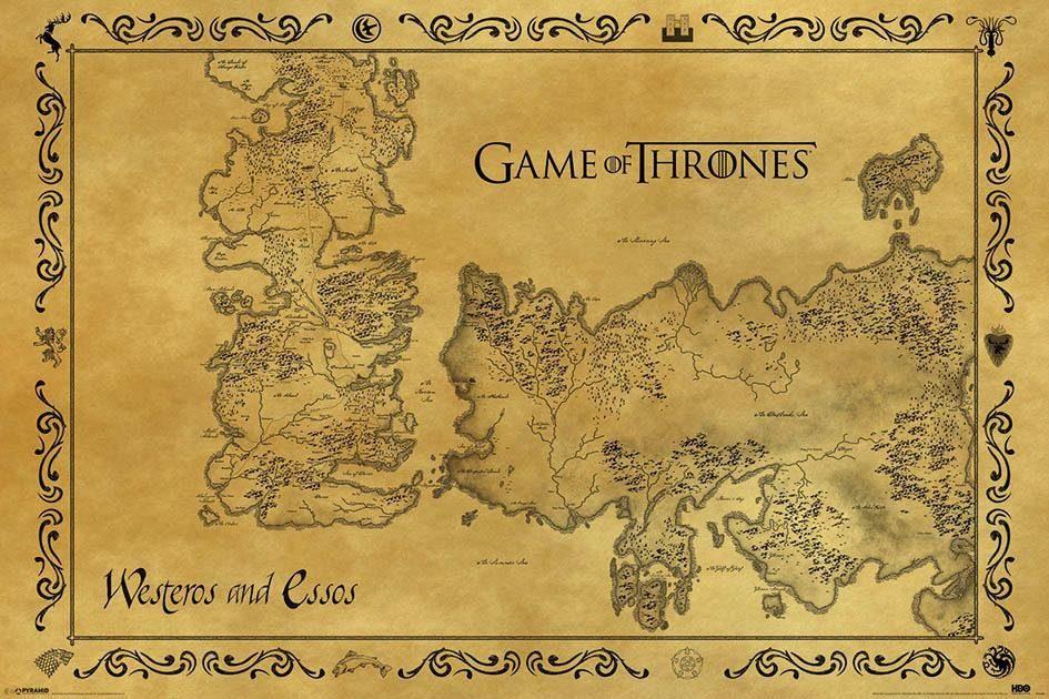 Deco-Panel »Game of Thrones«, Filmplakat, 90/60 cm