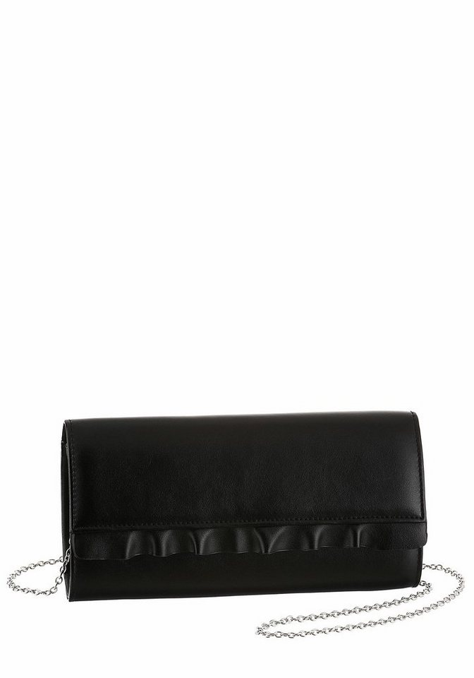 buffalo clutch mit silberfarbener kette und r schen. Black Bedroom Furniture Sets. Home Design Ideas