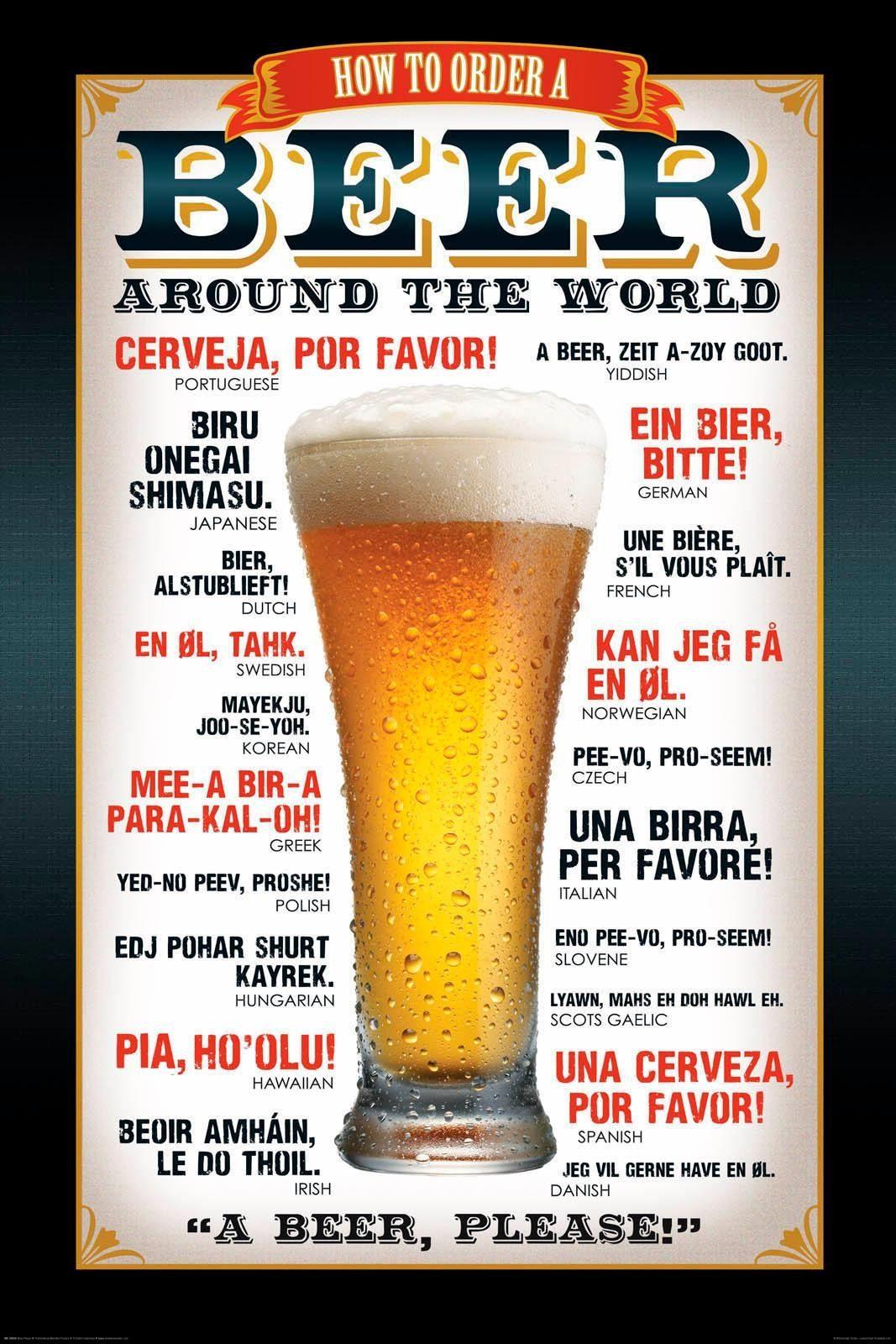 Deco-Panel »Bier bitte!«, Getränk, Schriftzüge, 60/90 cm