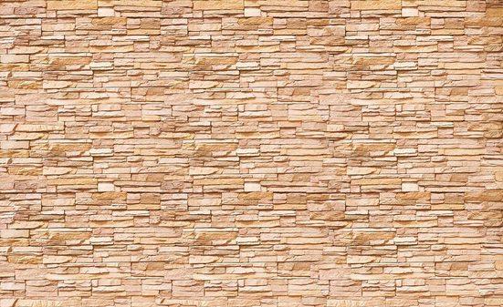 Fototapete »Steinmauer«