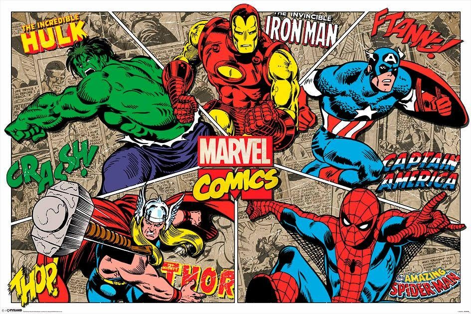Deco-Panel »Marvel«, Filmplakat, 90/60 cm