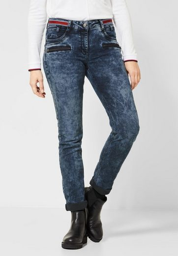 Cecil Loose-fit-Jeans mit Tape am Bund