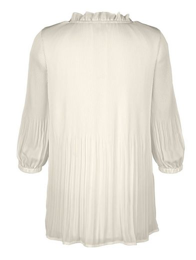 Mona Blouse In Fine Pleated-optics