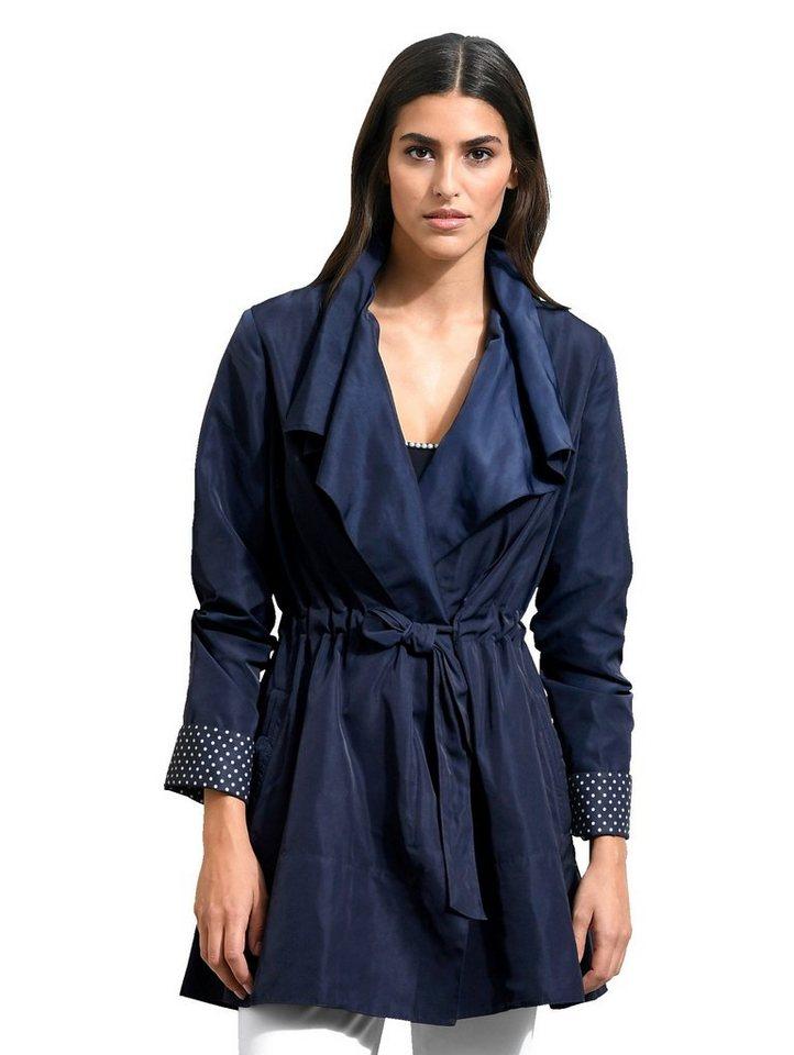 Damen Alba Moda  Trenchcoat in modisch aktueller Form blau | 04055716212328