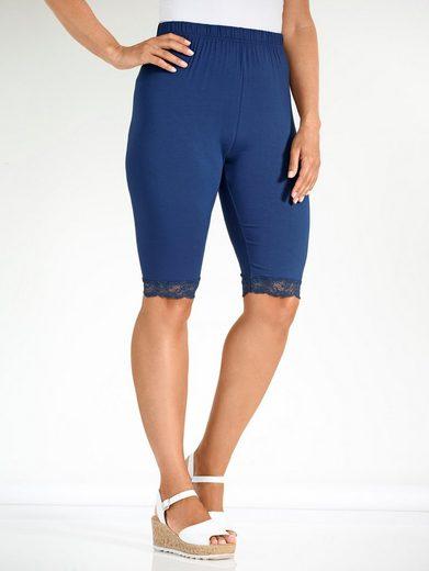 MIAMODA Capri-Leggings mit elastischer Spitze am Saum