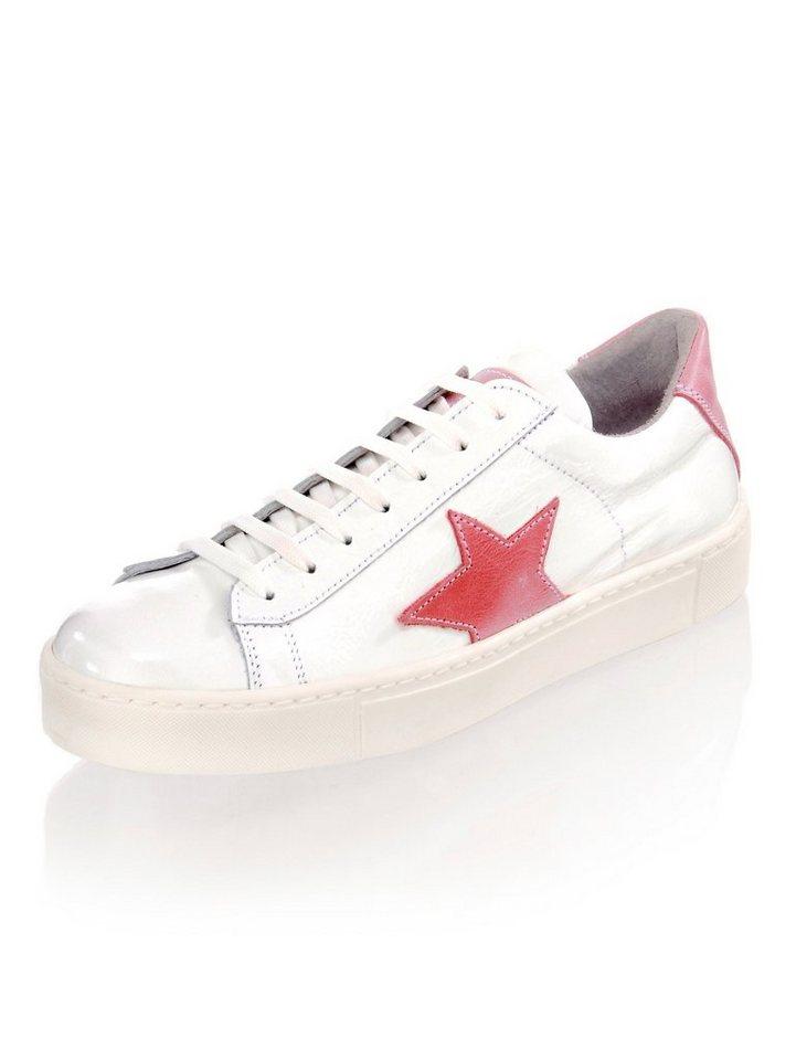 Alba Moda Sneaker In Lack Optik Weiss Pink?$formatz$