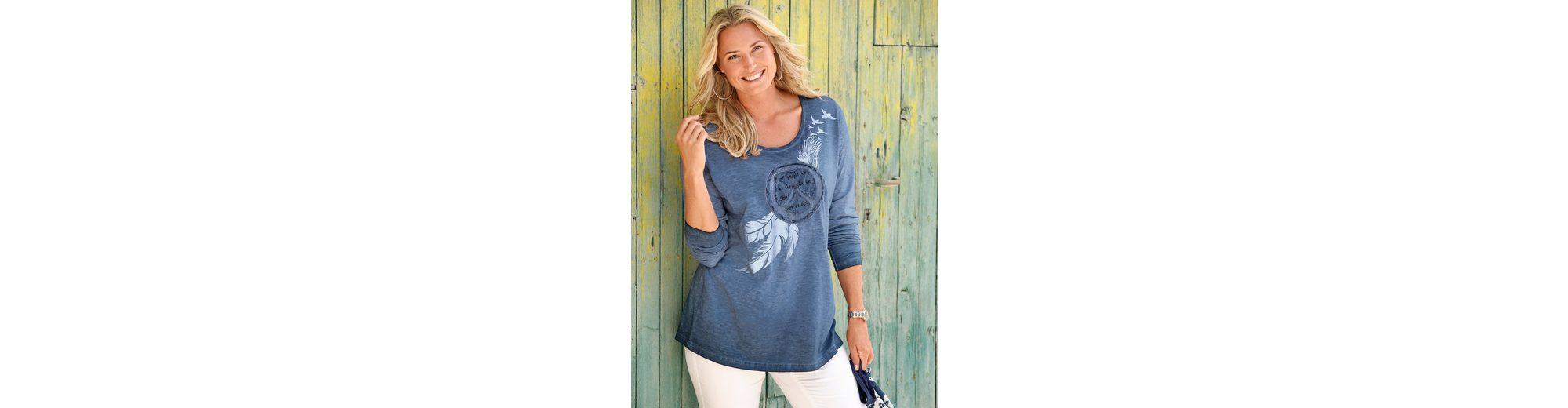 MIAMODA Shirt mit Peace-Zeichen aus Pailletten Neueste Günstig Online Billig Mit Kreditkarte IEPWptKR0