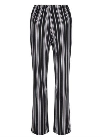 MIAMODA Slinkyhose mit streckendem Streifendruck