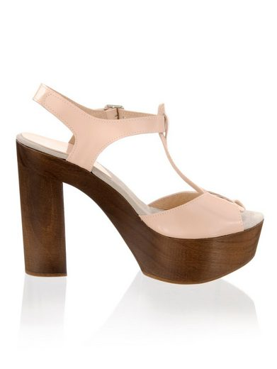 Alba Moda Sandalette mit Sohle und Absatz aus Holz