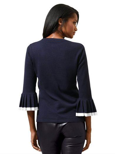 Alba Moda Pullover mit plissiertem Ärmelbund