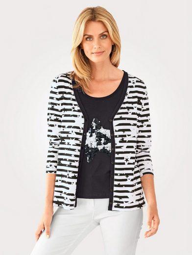 Mona Shirtjacke mit Wende-Pailletten