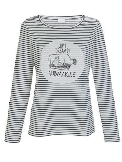 Alba Moda Shirt mit klassischem Buddelschiffmotiv