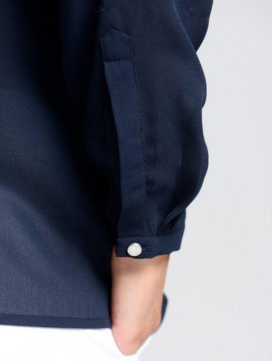 Alba Moda Bluse mit verdeckte Knopfleiste und Schmuckknopf