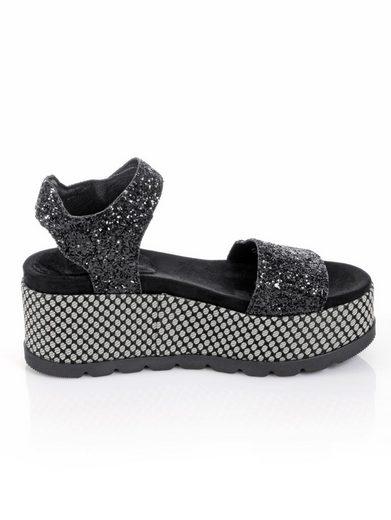 Alba Moda Sandalette in Glitter-Optik