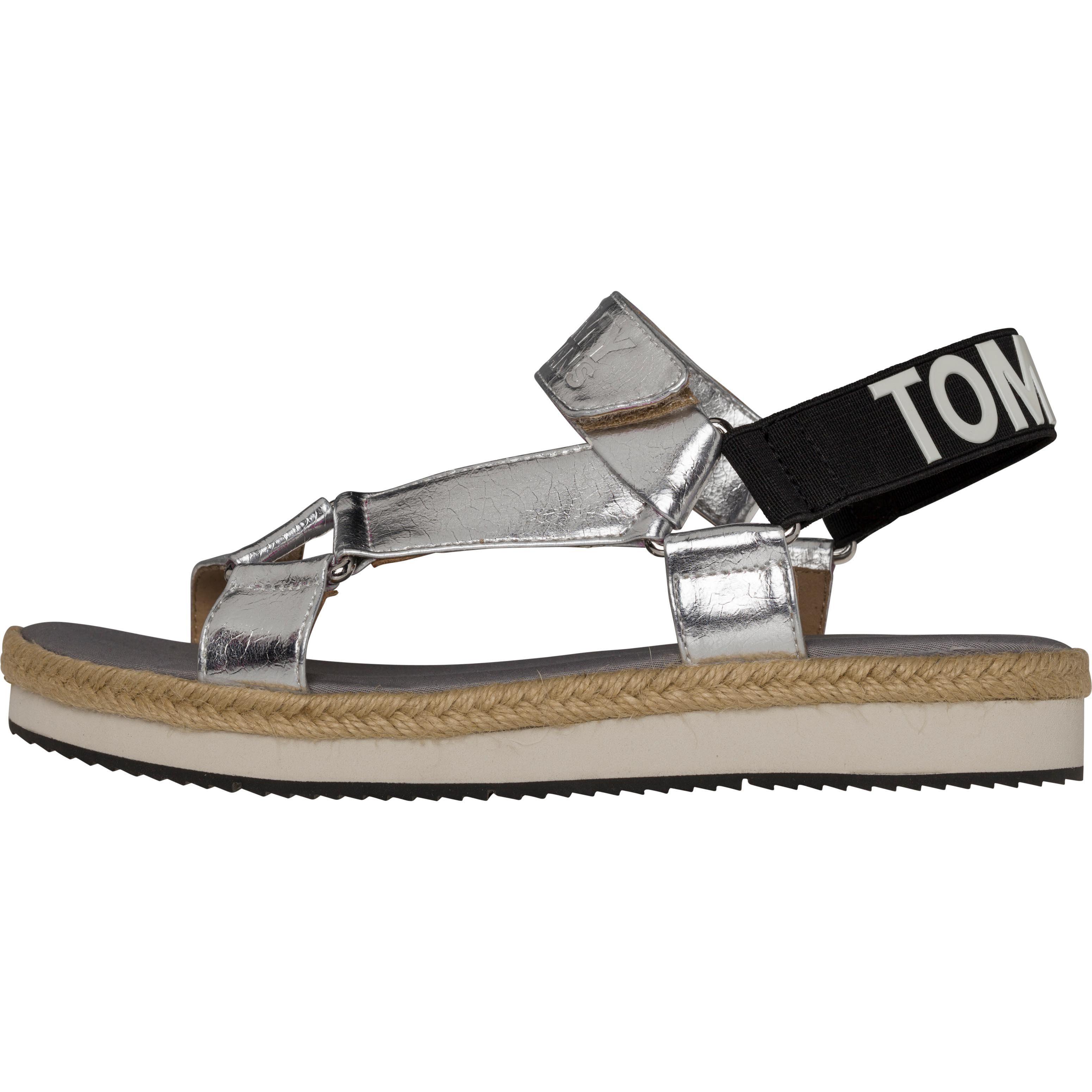 Tommy Jeans Sandalen FRESH MODERN METALLIC SANDAL online kaufen  SILVER