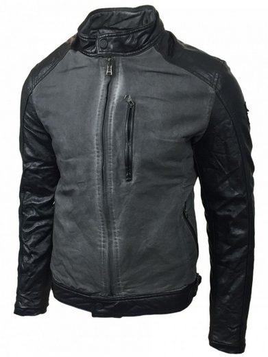Rusty Neal Fake Leather Jacket With Zipper