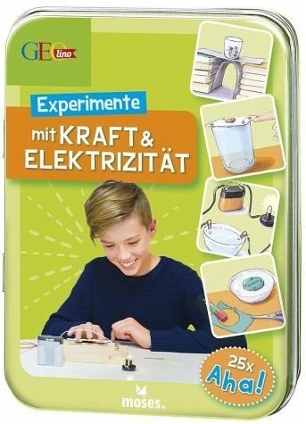 Broschiertes Buch »GEOlino Experimente mit Kraft & Elektrizität«