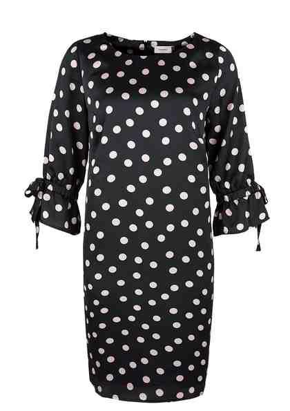 TRIANGLE Kleid mit Polka-Dots