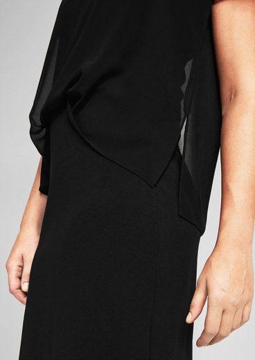 Triangle-layer Dress With Chiffon Blouse