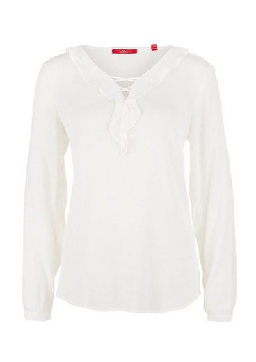 S.oliver Red Label Blouse With Volant-collar