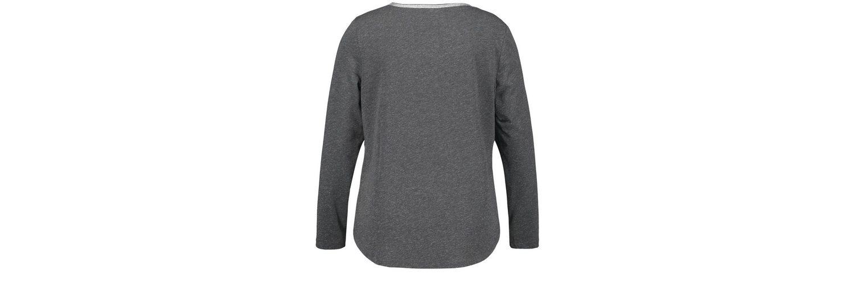 Samoon T-Shirt Langarm Rundhals Longsleeve mit Lurex-Effekt Spielraum 2018 Neueste Original Zum Verkauf Zuverlässig Günstig Online QKGfCd6
