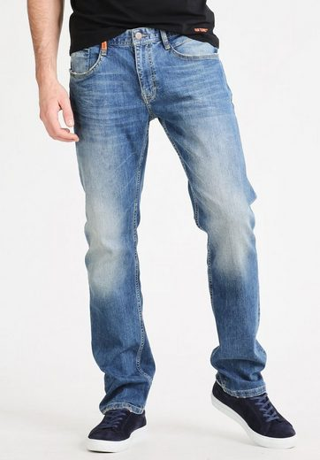 Gin Tonic 5-Pocket-Jeans STRAIGHT FIT light wash, Dezenze Used-Waschung