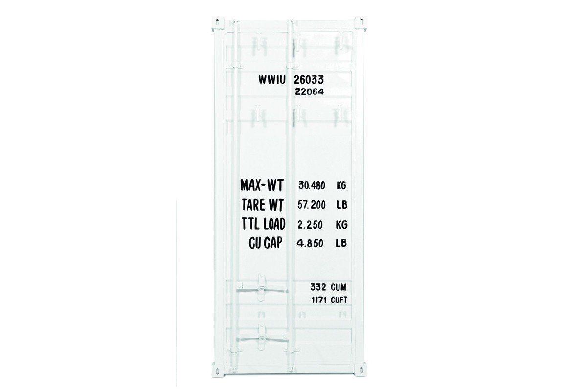 Kasper-Wohndesign Garderobe Metall weiß Tank