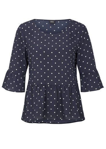 S.oliver Black Label Volant Blouse With Peplum