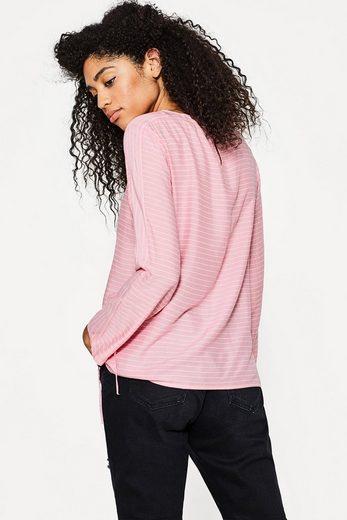 ESPRIT Zarte Streifen-Bluse mit Raffungen