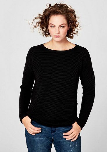 Triangle Knitted Sweaters With Ribbed