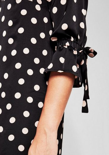 TRIANGLE Kleid mit Polka-Dots