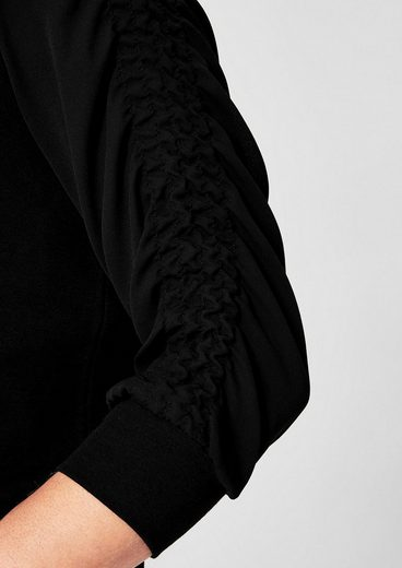 TRIANGLE Sweatshirt mit Chiffonärmeln